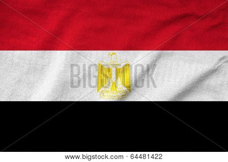 Ruffled Egypt Flag