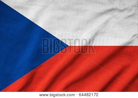 Ruffled Czech Republic Flag