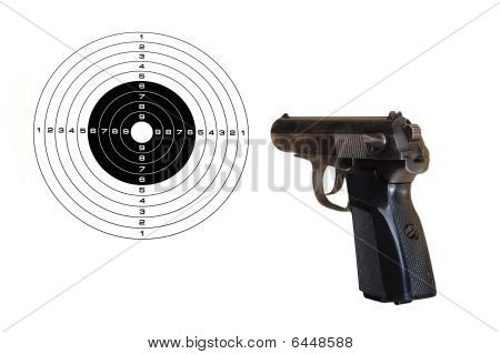Pistol And Target