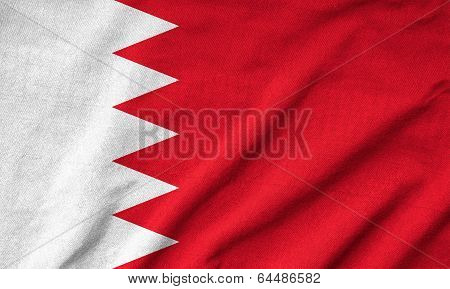 Ruffled Bahrain Flag