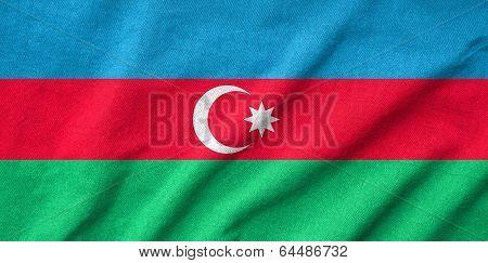Ruffled Azerbaijan Flag