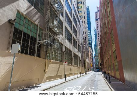 San Francisco downtown buildings in California USA