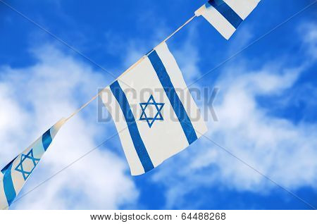 Israel Flags On Independence Day