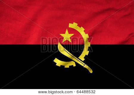 Ruffled Angola Flag