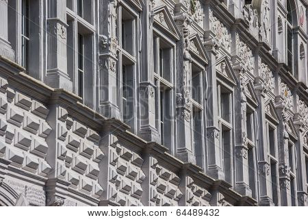 Detail Of The City Hall In Lubeck