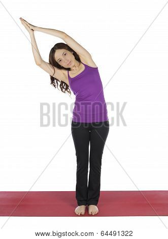 Woman Doing Anjali Mudra Pose In Yoga