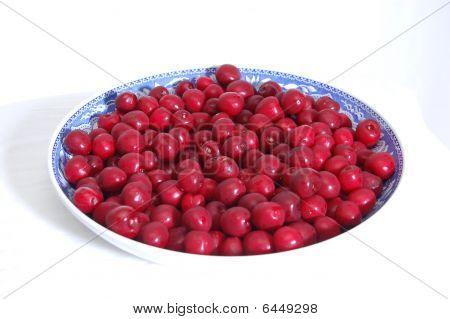 Large Bowl Of Cherries