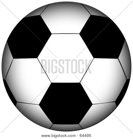 Football/Soccer On White Background