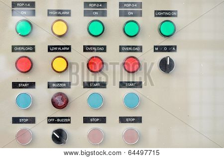 Buttons on electric power controller board