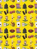 stock photo of poker machine  - Seamless Casino Pattern - JPG