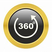 picture of degree  - 360 degrees icon as a symbol of 360 degrees - JPG