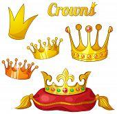 stock photo of king  - Yellow cartoon king - JPG