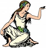 picture of virgo  - young woman - JPG