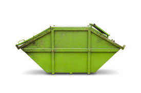 stock photo of dumpster  - Green skip  - JPG