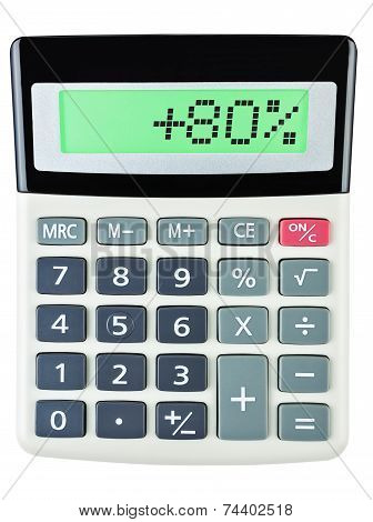 Calculator With 80 On Display  White