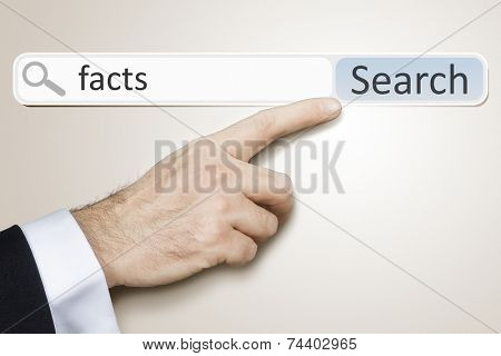 An image of a man who is searching the web after facts