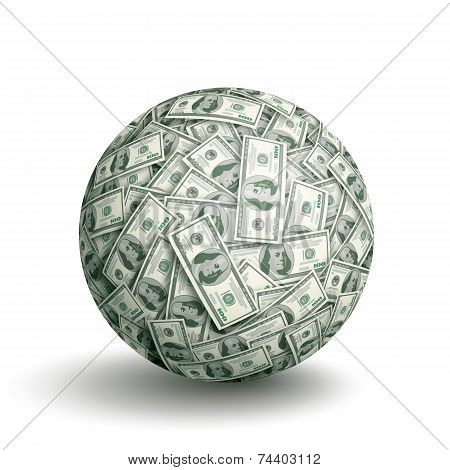 Vector dollar ball