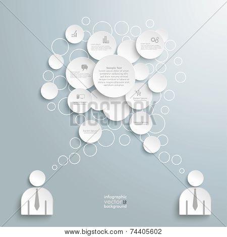 White Speech Bubble Circles 2 Businessmen