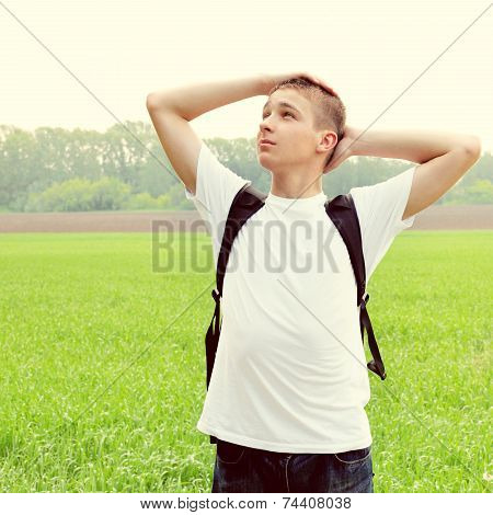 Teenager In The Field