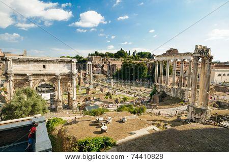 The Forum Romanum Rome, Italy