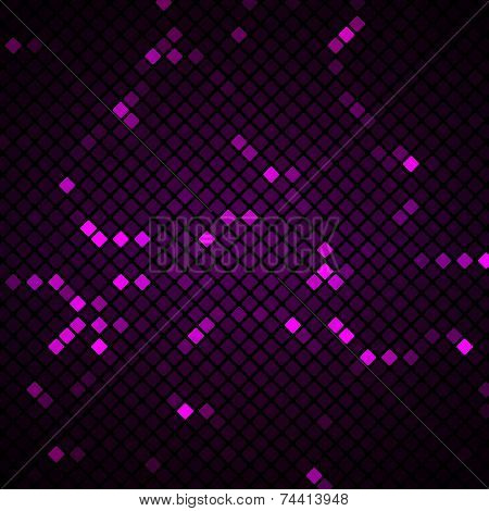 Abstract Mosaic With Purple Background