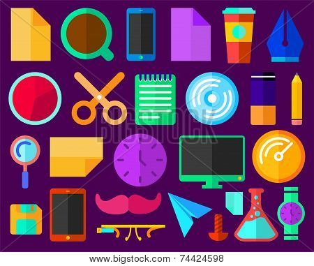 Design Services Flat Icons Set