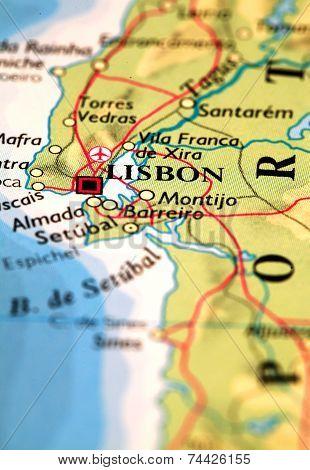 Lisbon On Map