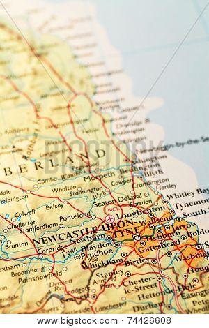 Newcastle Upon Tyne On Map