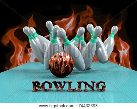 Bowling Game Strike rot