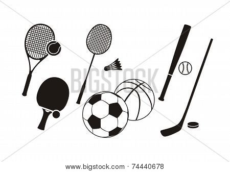 Hockey stick racket tennis baseball badminton