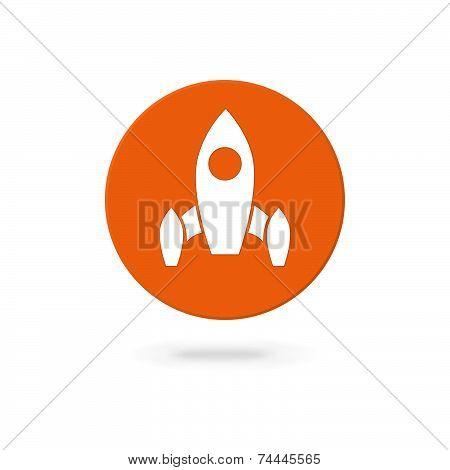 White Vector Startup Rocket Symbol