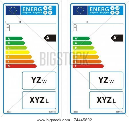 Hot water storage tanks new energy rating graph label