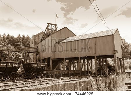 Vintage colliery building