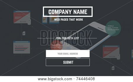 Web template - landing page