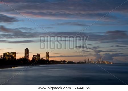Surfer's Paradise At Sunset