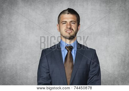 Hideous Face Businessman