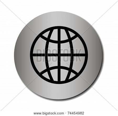 Earth globe vector icon
