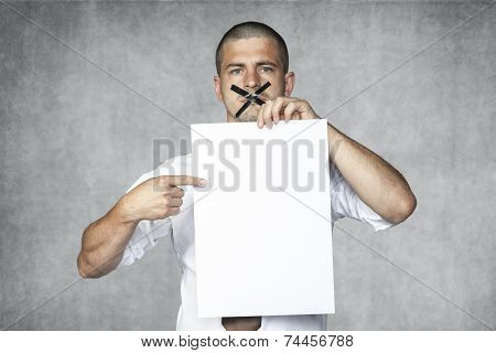 Businessman With Closed Mouth