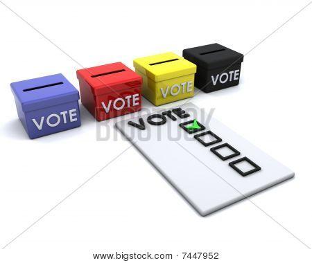 Election Day Ballot Box