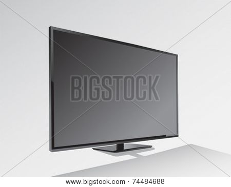 Digitally generated Big black blank screen vector