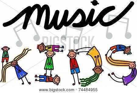 Music Kids Title Text