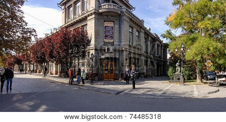 Simferopol, Ukraine - Oct 7, 2014: Crimean Russian Drama Theater Opens Its 196Th Year Of Operation A