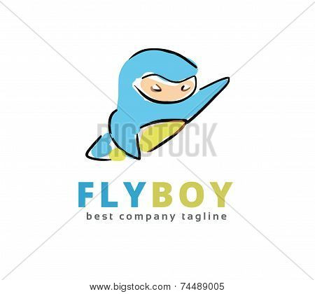 Abstract vector super hero monster logo icon concept. Logotype template for branding and corporate d