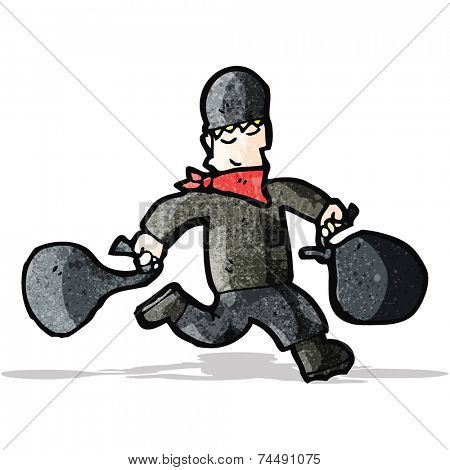 cartoon bank robber