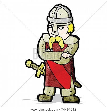 cartoon saxon warrior