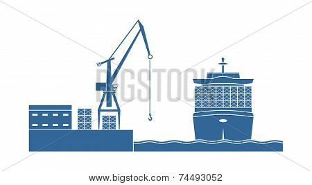 Container Ship In The Port