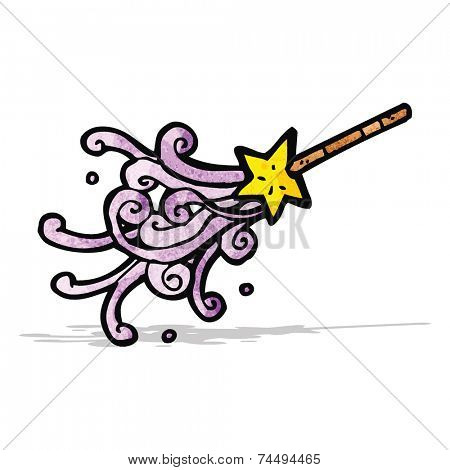 magic wand casting spell