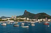 foto of carnival rio  - Scenic View of Rio de Janeiro Guanabara Bay and the City and Corcovado Mountain with Christ the Redeemer - JPG