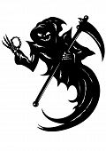 stock photo of grim-reaper  - Illustration Funny Grim Reaper with  - JPG
