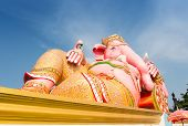 stock photo of ganesh  - Ganesh statue in SamanChai temple Chachoengsao province of Thailand - JPG